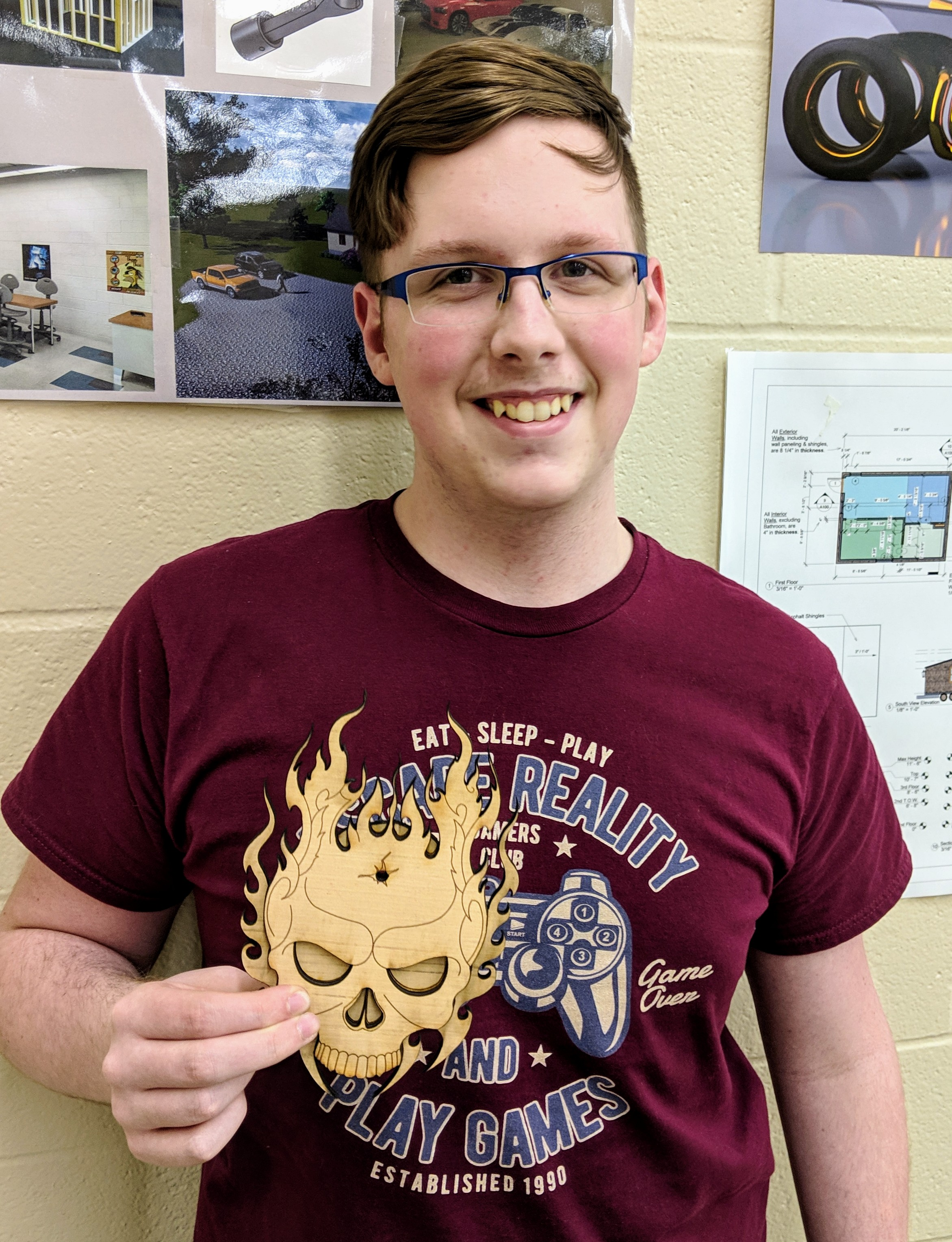 CCCTC Drafting & Design Student Using Skills to Create Projects