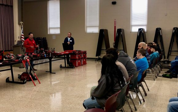 Milwaukee Tool and The Hite Company Talk to CCCTC Students About Opportunities