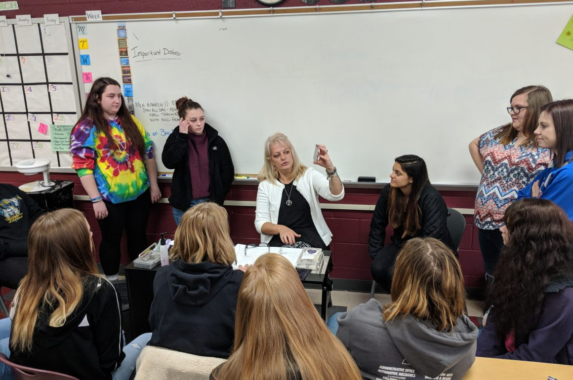 CCCTC Cosmetology Students Receive Advanced Nail Technology Training