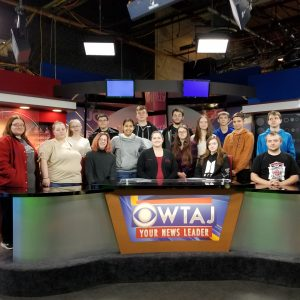 CCCTC Students from Digital Media Arts Tour WTAJ-TV