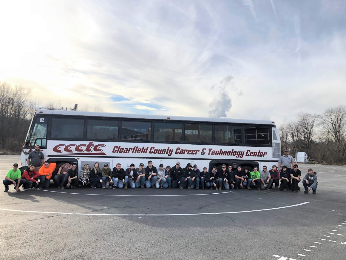 CCCTC Collision and Deisel Students Transform Bus