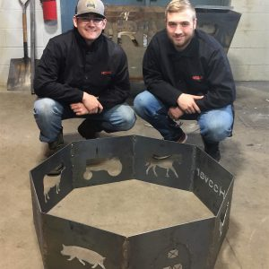 CCCTC Welding Students Design and Create Fire Rings