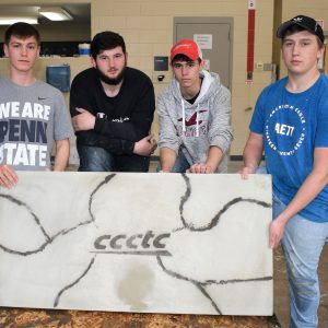 CCCTC Masonry Students Create and Build Custom Counter Top
