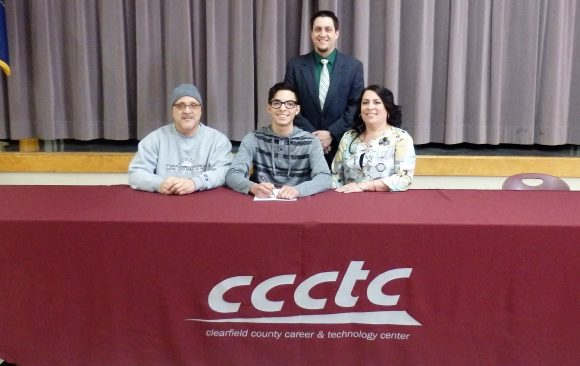 CCCTC Senior Signs Letter of Intent at Career & Technical Letter of Intent Signing Day