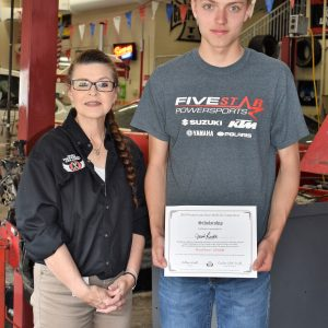 CCCTC Automotive Mechanics Student Receives $10,000.00 Scholarship
