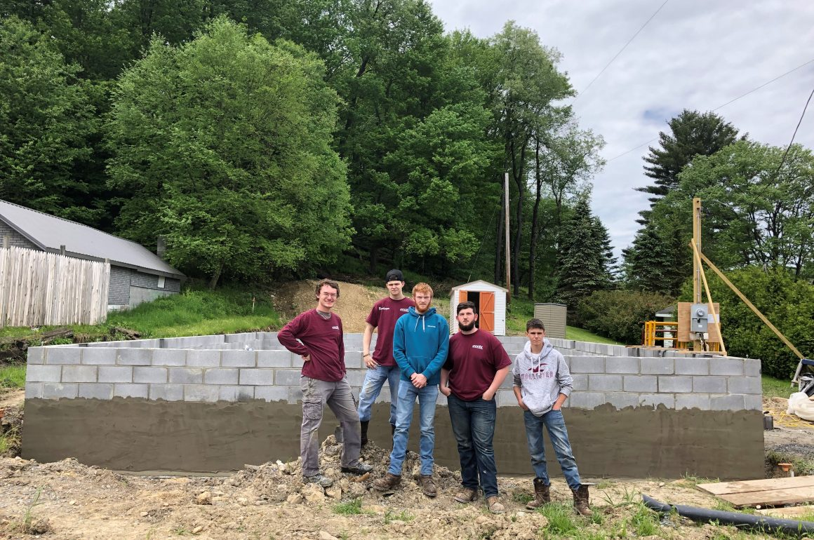 CCCTC Carpentry Students Assist Habitat for Humanity