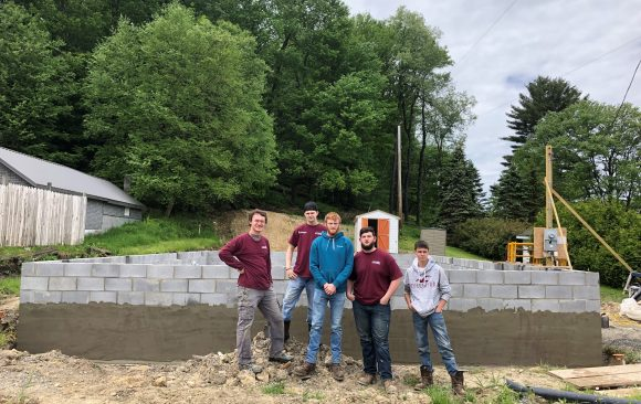CCCTC Masonry Students Assist Habitat for Humanity