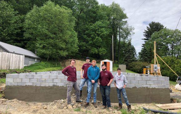 CCCTC Masonry Students Assist Habitat for Humanity