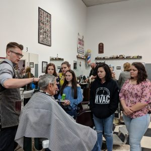 High School Students in the CCCTC Cosmetology Program Tour Martin's Barber School