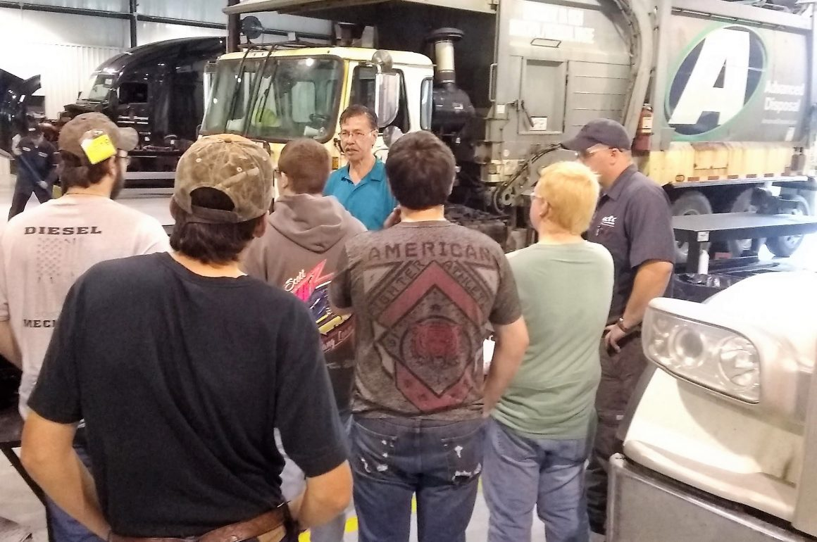 CCCTC Diesel Students Tour Hunter Truck Sales
