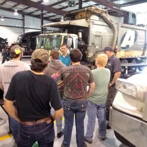 CCCTC Diesel Students Tour Hunter Truck Sales