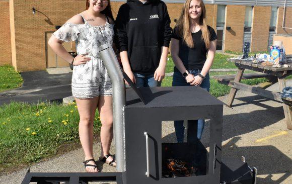 CCCTC Welding & Metal Fabrication Students Create Unique Fire Pit