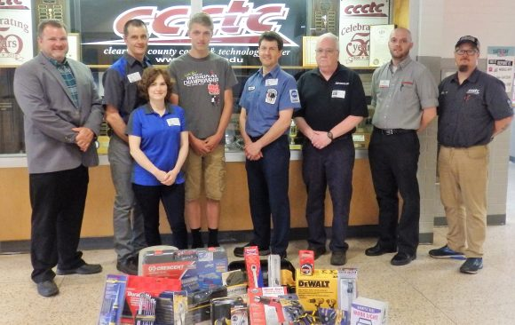 Local Businesses Reward Outstanding Automotive Mechanics Student