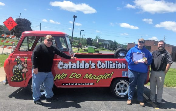 CCCTC Collision Repair Student Awarded Cataldo's Collision Employer Excellence Award