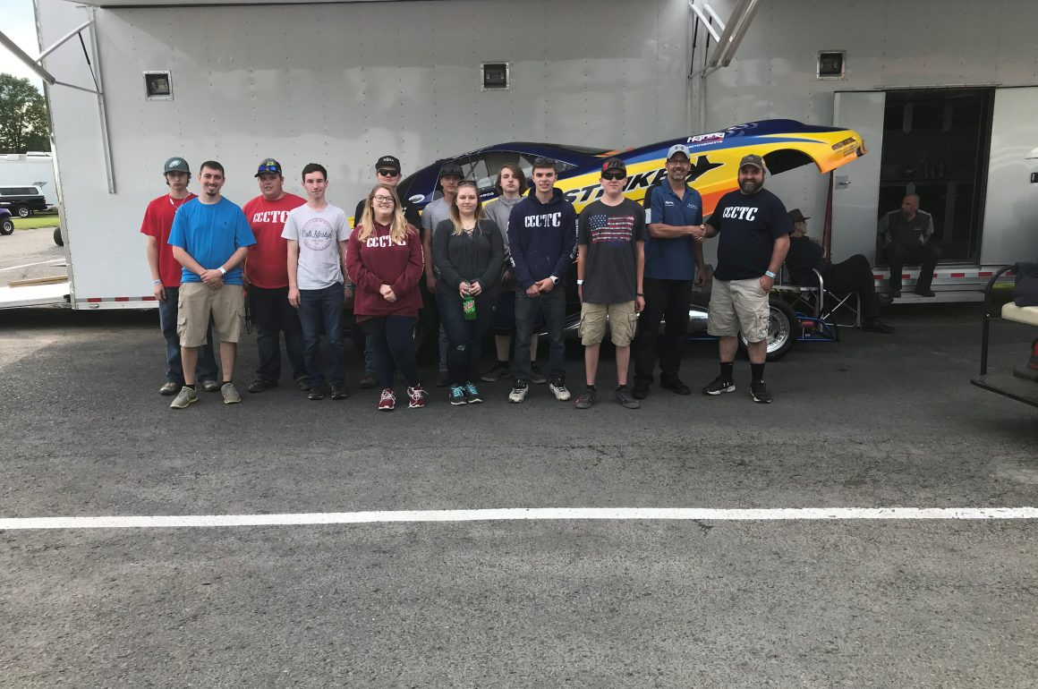 CCCTC Collision Repair Students Tour Beaversprings Dragway