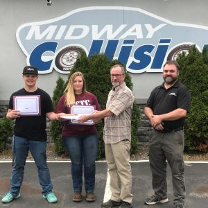 CCCTC Collision Repair Students Receive Awards