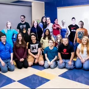 CCCTC Digital Media Arts Students Create Life Size Cutout Project