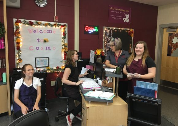 CCCTC High School Cosmetology Students Hold First Clinic For 19-20 School Year