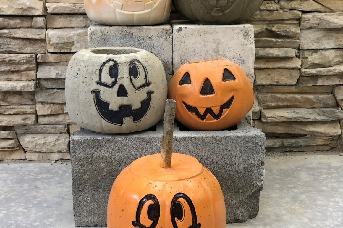 CCCTC Masonry Students Create Concrete Pumpkins