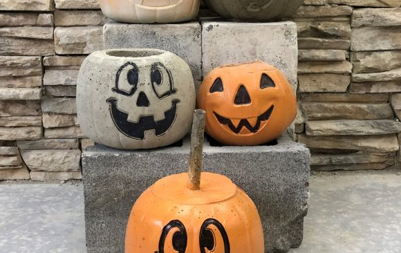 CCCTC Masonry Students Create Concrete Pumpkins