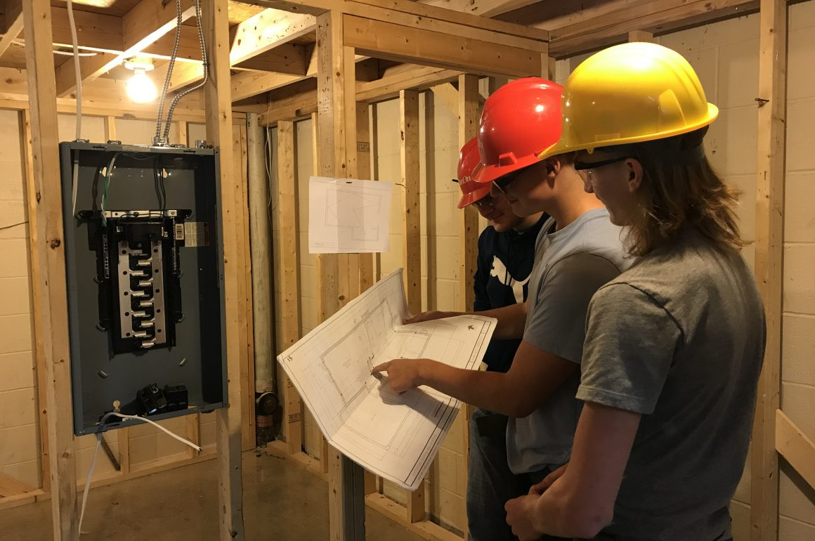 CCCTC Students in Electrical Occupations Learning to Wire and Mount
