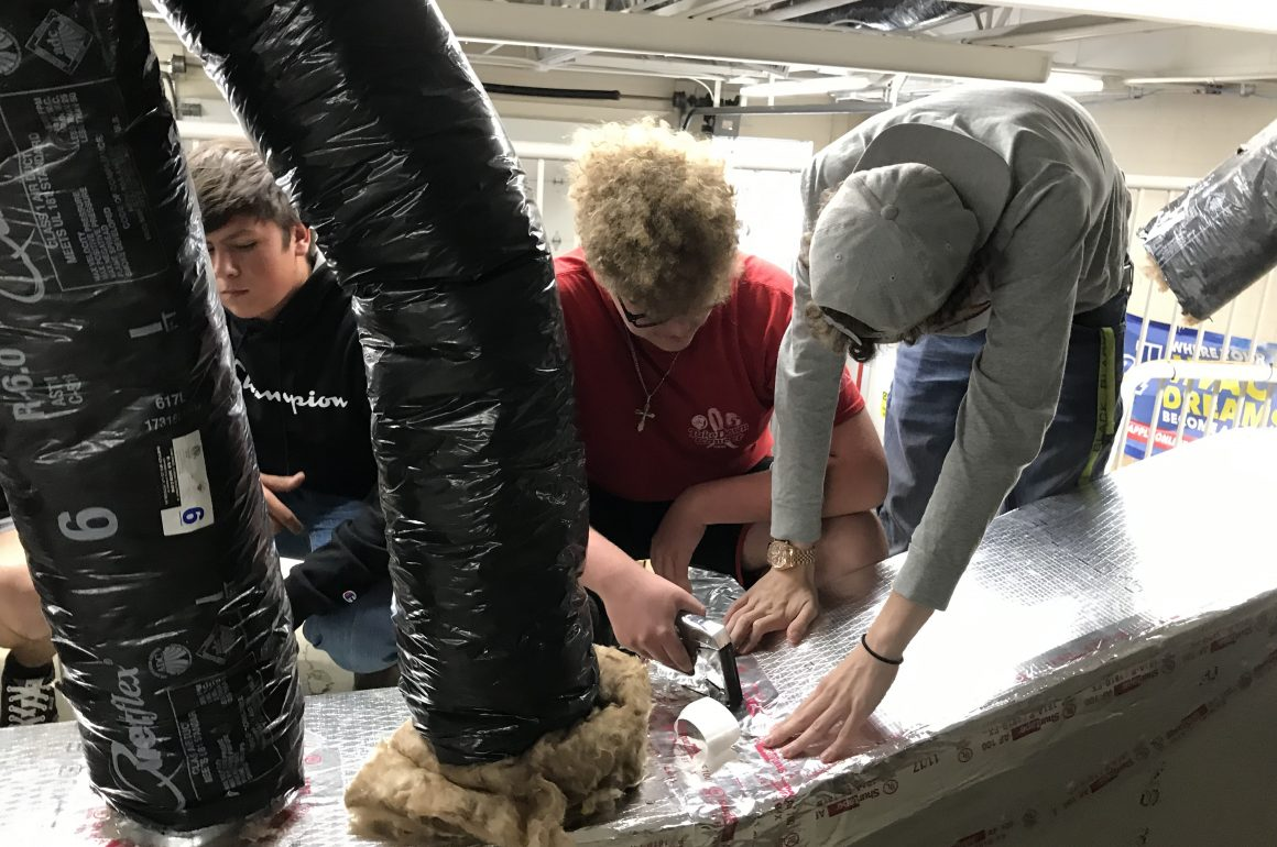HVAC/R Program at CCCTC Learning about Ducts