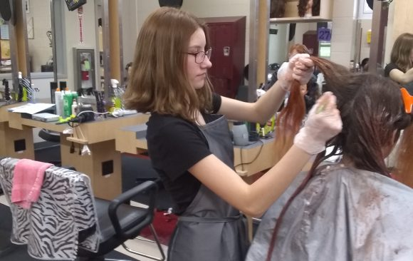 CCCTC High School Cosmetology Students Hold Spooky Spa Day to Raise Money for The Darlene Smolko Scholarship