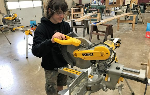 CCCTC Carpentry & Building Construction Students Learning Operation of Power Tools