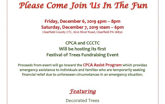 CPCAA and CCCTC Hosting First Festival of Trees Fundraising Event