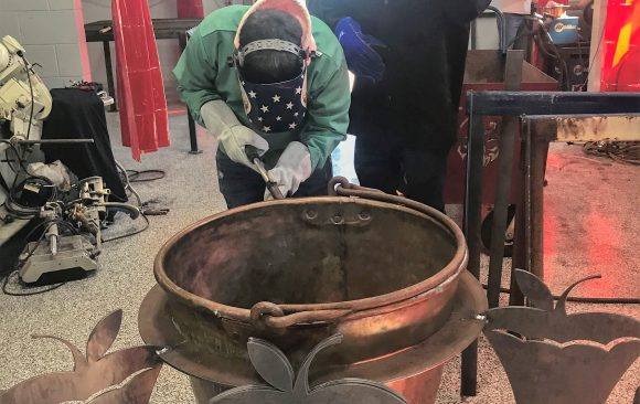 Welding Students at CCCTC Using Skills to Create Project for Boy Scouts