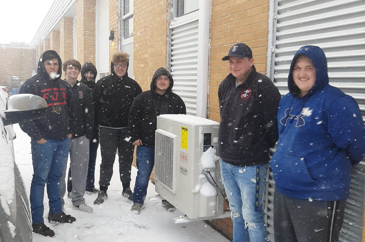 HVAC/R Students at CCCTC Complete Installation of Ductless Heat Pumps