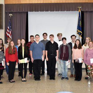 The Clearfield High School Caroling Choir Entertains CCCTC Staff