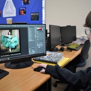 CCCTC Digital Media Arts Students Working on Restoring Old, Faded, and Torn Images