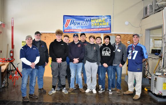 HVAC/R Students at CCCTC Hear About Opportunities at J.J. Powell Inc.