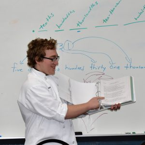 CCCTC Culinary Graduate Talks to CCCTC Culinary Students about IUP Culinary School