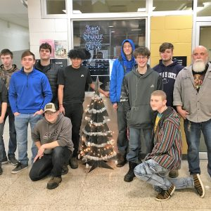 CCCTC Welding and Metal Fabrication Students Create Metal Christmas Tree