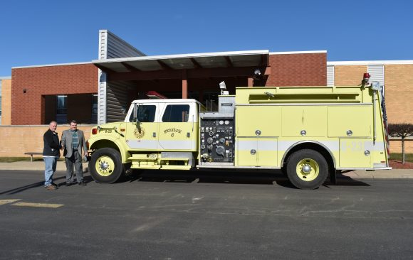 Lawrence Township Donates Pumper Tanker to CCCTC for Volunteerism Training