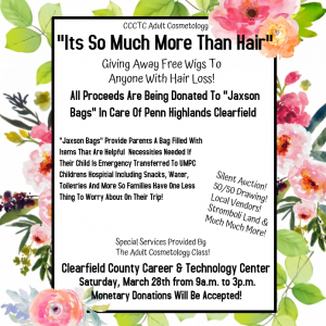 "CCCTC's Adult Cosmetology Program Raising Money for ""Jaxon Bags"""