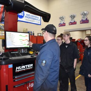 CCCTC Automotive Mechanics Students Explain Importance of Vehicle Alignment