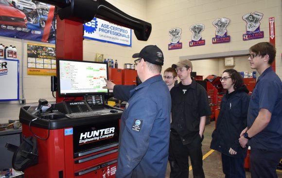 CCCTC Automotive Mechanics Students Explain Importance of Vehicle Alignment