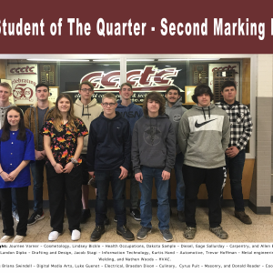 CCCTC Announces Second Marking Period High Honors, Honors, and Perfect Attendance