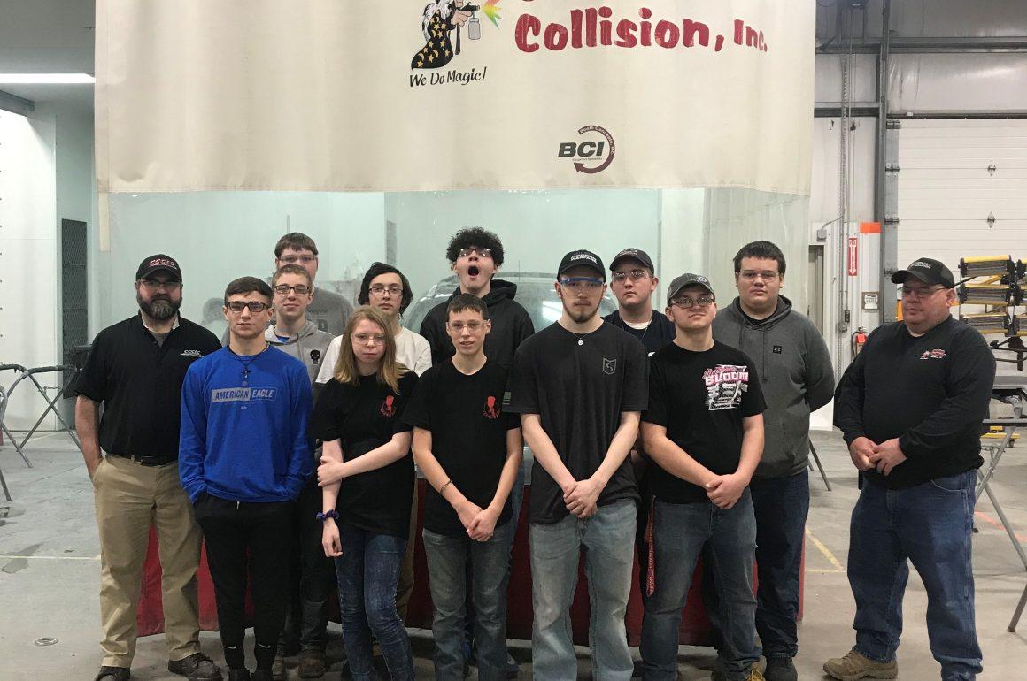 CCCTC Collision Repair Students Visit Several Local Repair Shops