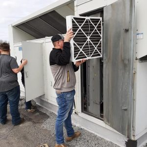 CCCTC HVAC/R Students Perform Spring Air Conditioner Maintenance