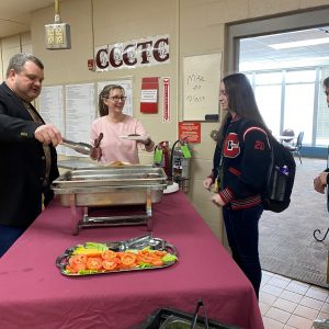CCCTC Students Earn Reward for Perfect Attendance for the Month