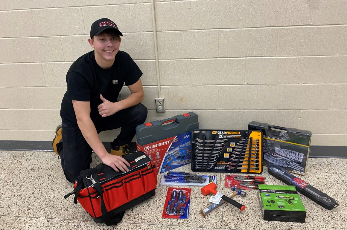 Local Businesses Reward Outstanding Automotive Mechanics Student, Kurtis Hand