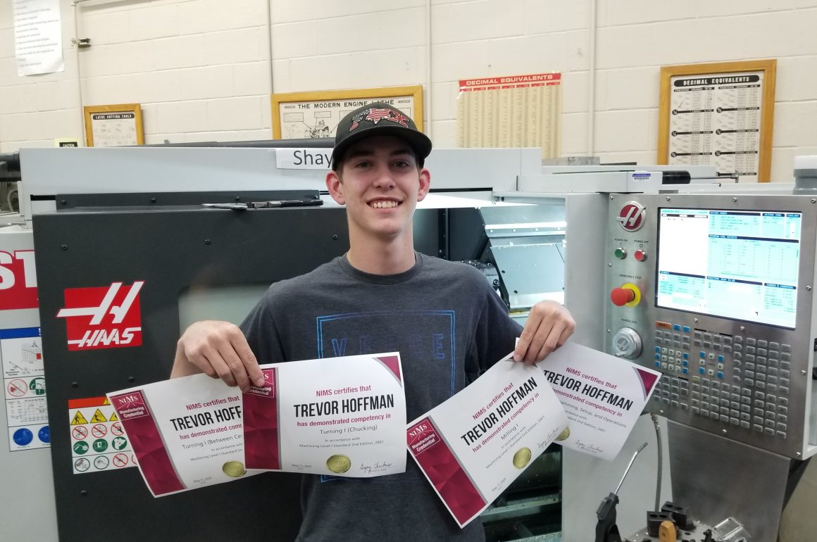 CCCTC Metal Engineering Students Earn NIMS Credentials