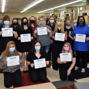 CCCTC Cosmetology Students Complete Barbicide Covid-19 Certification Course