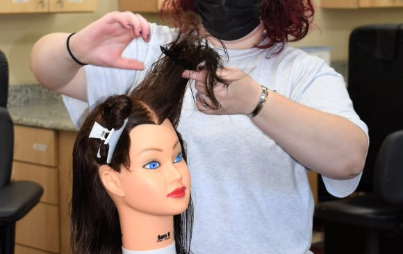 CCCTC Cosmetology Students Learning Wide Range of Services