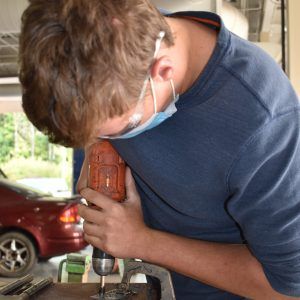 CCCTC Collision Repair Student Practices Skills Removing Spot Welds