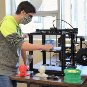 CCCTC Drafting and Design Student Learns 3D Printer